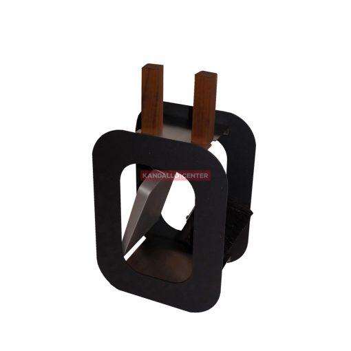 Kandallótisztító szett kocka alakú, fekete, 2 részes