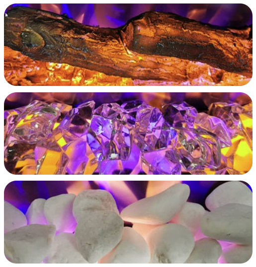 Háromféle parázsággyal kapható - rönk, kristály, kavics